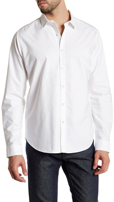 Theory Solid Slim Fit Shirt $195 thestylecure.com