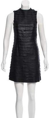 Alice + Olivia Tiered Leather Dress