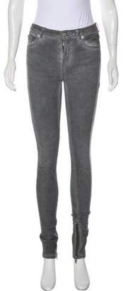 BLK DNM Faded Mid-Rise Jeans