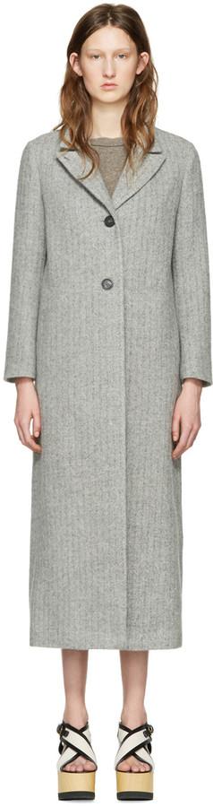 Isabel MarantIsabel Marant Grey Long Duard K Coat