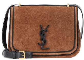 Saint Laurent Small Spontini suede shoulder bag