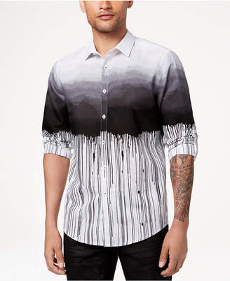 INC International Concepts I.n.c. Men's Ombre Striped Shirt, Created for Macy's