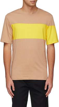 Helmut Lang Logo print back colourblock T-shirt