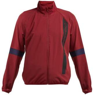 1e0e530ad1668 Calvin Klein Logo Technical Crepe Jacket - Womens - Burgundy Multi