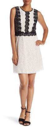Cynthia Steffe CeCe by Colorblock Lace Dress
