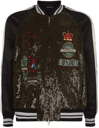 Valentino Embellished Varsity Jacket