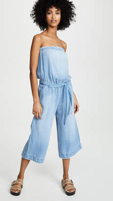 Bella Dahl Strapless Chambray Jumpsuit