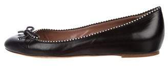 Tabitha Simmons Leather Bow Flats