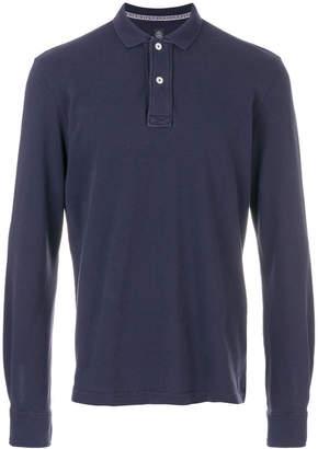 Eleventy long-sleeve polo shirt