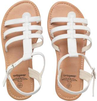 Board Angels Girls T-Bar Strappy Sandals White