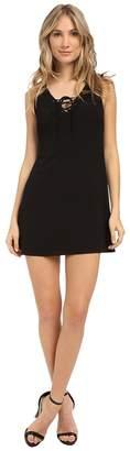 Brigitte Bailey Solid Lace-Up Front Dress Women's Dress