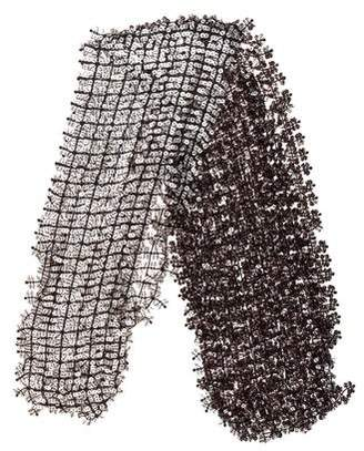 Marc Jacobs Open Knit Embellished Scarf