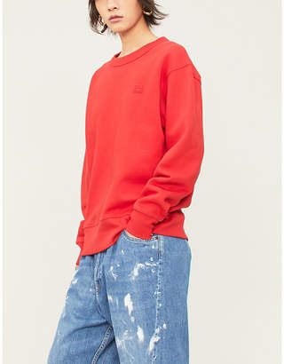 Acne Studios Fairview Face logo-patch cotton-jersey sweatshirt
