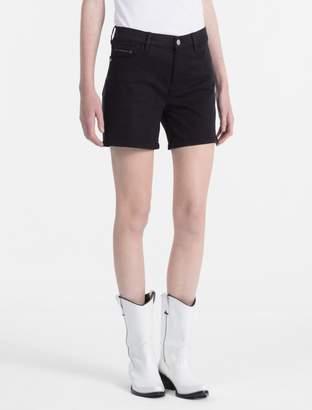 Calvin Klein skinny fit denim shorts