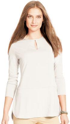 Ralph Lauren Lauren Keyhole Jersey Top $79.50 thestylecure.com