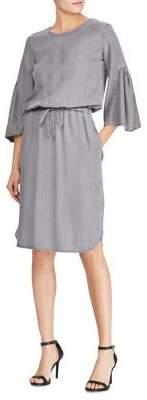 Lauren Ralph Lauren Petite Ruffle-Sleeve Drawstring Dress