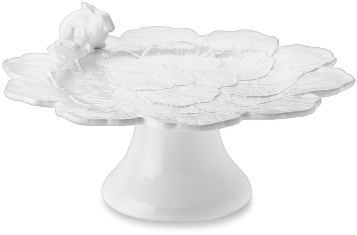 Williams-Sonoma Figural Easter Bunny Cake Stand with Leaves & Bunny