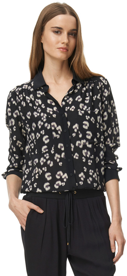 Rebecca Taylor Bobcat Button Up Top