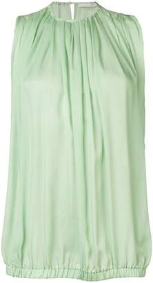 L'Autre Chose sleeveless pleats blouse