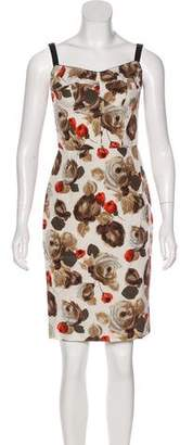 Dolce & Gabbana Floral Knee-Length Dress w/ Tags