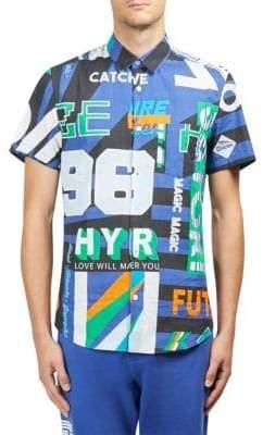 Kenzo Hypergraphic Cotton Button-Down Shirt