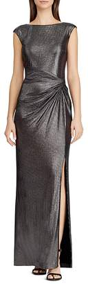 Lauren Ralph Lauren Metallic Draped Gown
