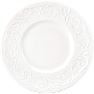 Lenox Dinnerware, Set of 4 Opal Innocence Carved Dessert Plates
