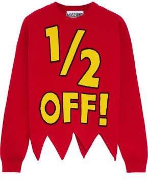 Moschino Asymmetric Intarsia Wool Sweater