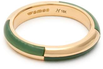 Marc Alary Deco 18kt gold & chrysoprase ring