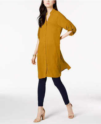Alfani Roll-Tab Tunic Shirt