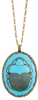 Gucci Beetle Necklace - Womens - Blue