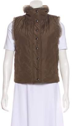 Haute Hoodie Quilted Fur Vest