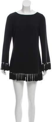 Michael Kors Virgin Wool Tassel Tunic Top
