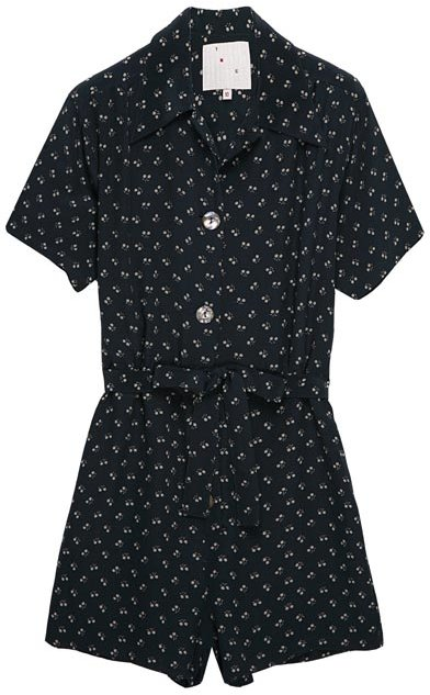 YMC Floral Silk Short Playsuit