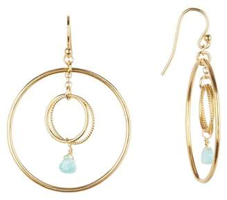 Chan Luu Double Hoop Crystal Earrings