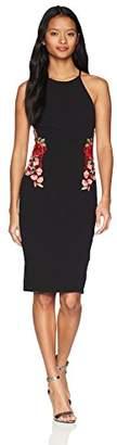Dar Lin Bee Darlin Women's Embroidered Scuba Slim Dress