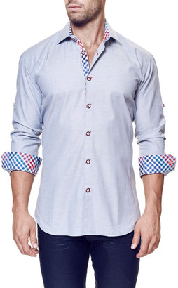 Maceoo Flavor Long Sleeve Trim Fit Shirt (Big & Tall Available) $158 thestylecure.com