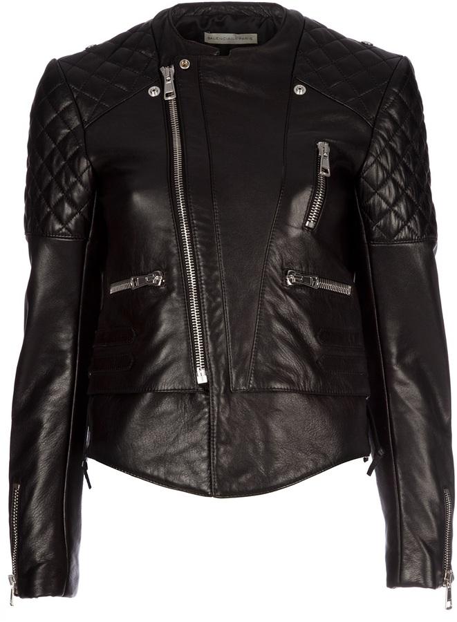 BALENCIAGA lamb leather jacket