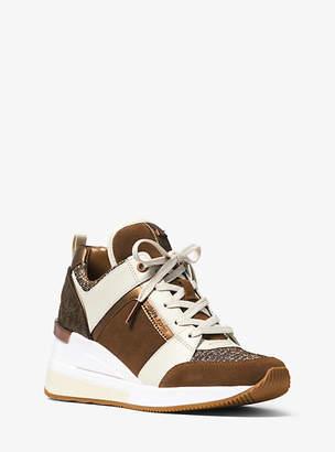 Michael Kors Georgie Mixed-Media Sneaker