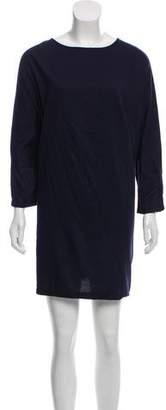 Black Crane Mini T-Shirt Dress