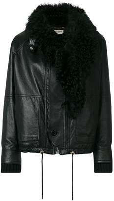 Saint Laurent fur-trim jacket