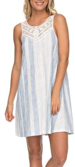 Roxy Azure Escape Stripe Shift Dress