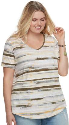 Sonoma Goods For Life Plus Size SONOMA Goods for Life Essential V-Neck Tee
