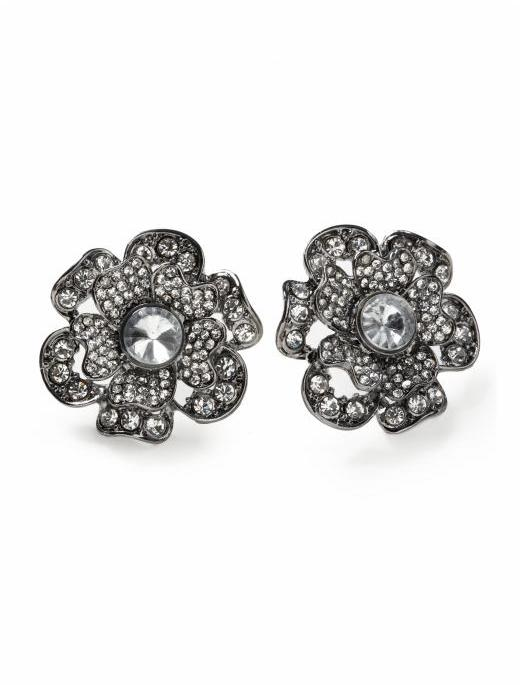 Hive And Honey Hive & Honey Glamour Flower Stud Earring