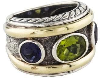 David Yurman Peridot & Iolite Renaissance Ring
