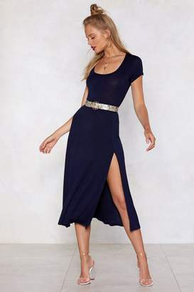 Nasty Gal Slit While You Still Can Midi Dress