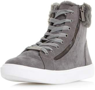 c5f5d8d04c1db3 Dorothy Perkins Womens  Head Over Heels By Dune Everley Grey Trainers