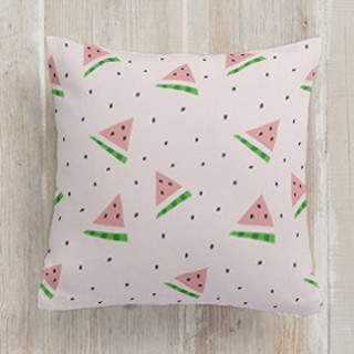 Playful Watermelon Square Pillow