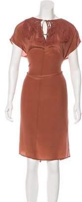 Ulla Johnson Fringe-Accented Midi Dress