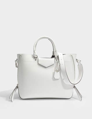 MICHAEL Michael Kors Blakely Large Tote Bag in Optic White Calfskin
